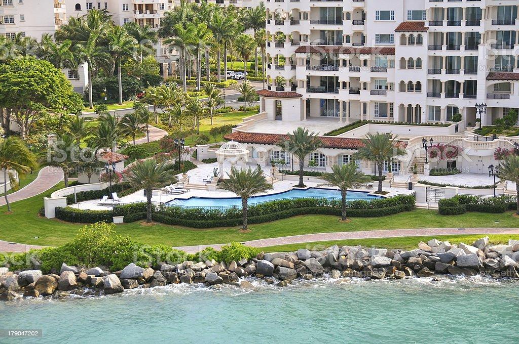 luxury waterfront living stock photo