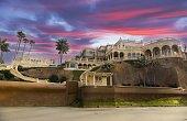 San Diego, California, USA - February 14, 2018: Villa Pelagia, Luxury Mansion on La Jolla Shores Waterfront, designed by Los Angeles Architect Timothy Corrigan