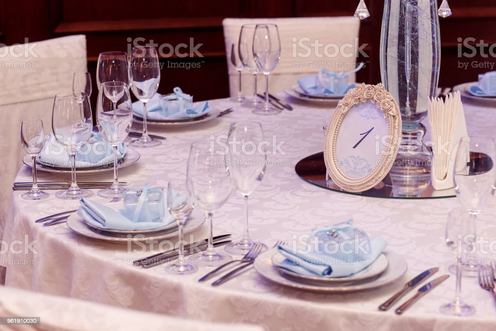 Luxury Wedding Reception Stylish Numder One Of Tables And Glasses