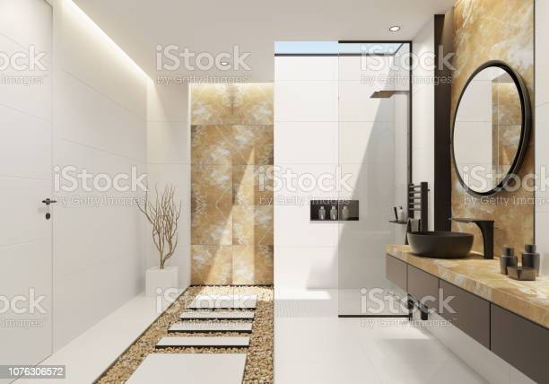 Luxury white bathroom with gold onyx and bold black details picture id1076306572?b=1&k=6&m=1076306572&s=612x612&h=izpt5ako5uupfsz05g7r2aqfbr3hldkqx6vp e7p9e0=