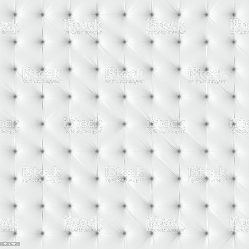 Luxury white chesterfield texture. stock photo