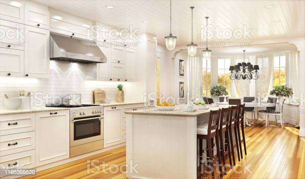 Luxury white kitchen and dining room in a large beautiful house picture id1165365520?b=1&k=6&m=1165365520&s=612x612&h=coz s2a kpi6iocg2lely0bgbpco 7vul5 fawae4d0=