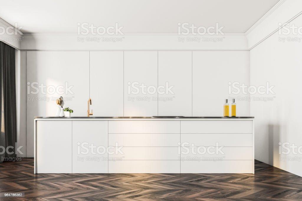 Luxury white kitchen interior royalty-free stock photo