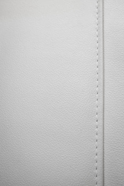 luxury white leather background - seam stock photos and pictures