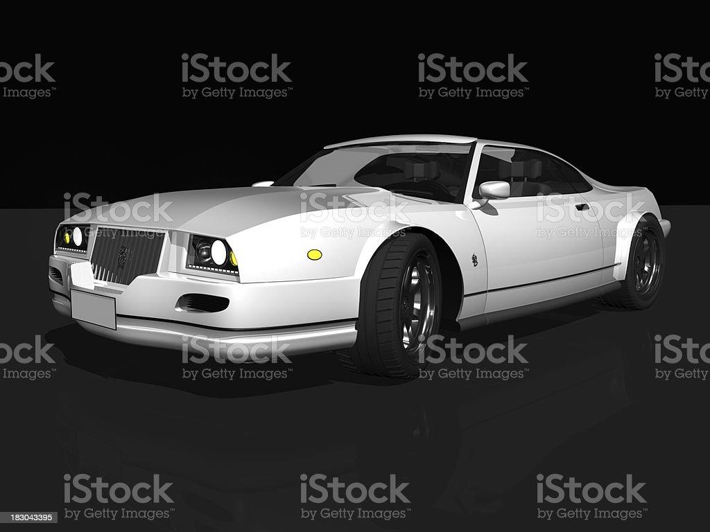 luxury white sport Auto - Lizenzfrei Alufelge Stock-Foto