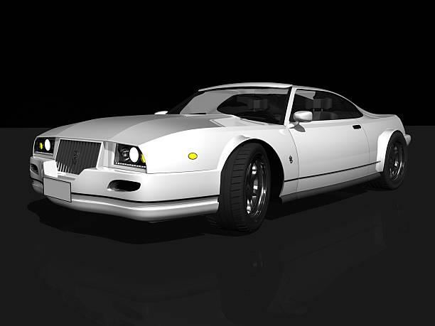 luxury white sport Auto – Foto