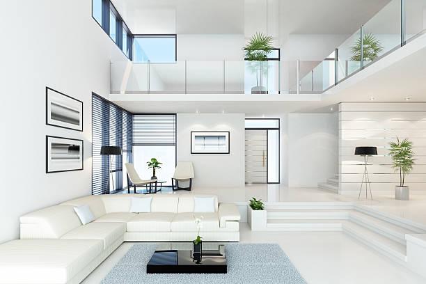 Luxury Villa branca - foto de acervo