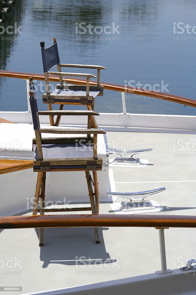 Luxury Yacht Deck - Bow royalty-free stock photo