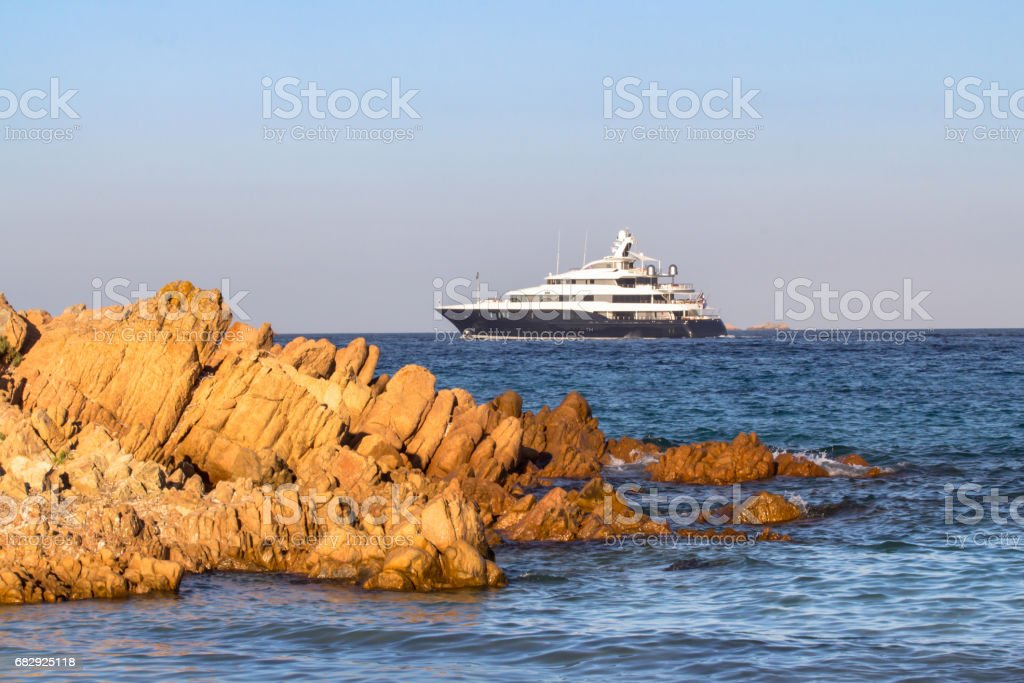 Luxury yacht in the sea royalty-free stock photo