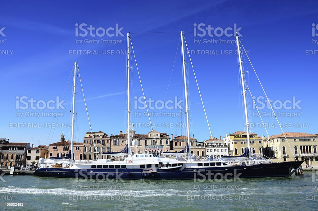 Luxury Yacht in Venice royalty-free stock photo