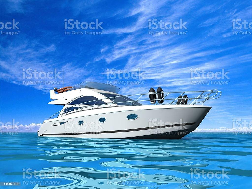 Luxury yacht. royalty-free stock photo