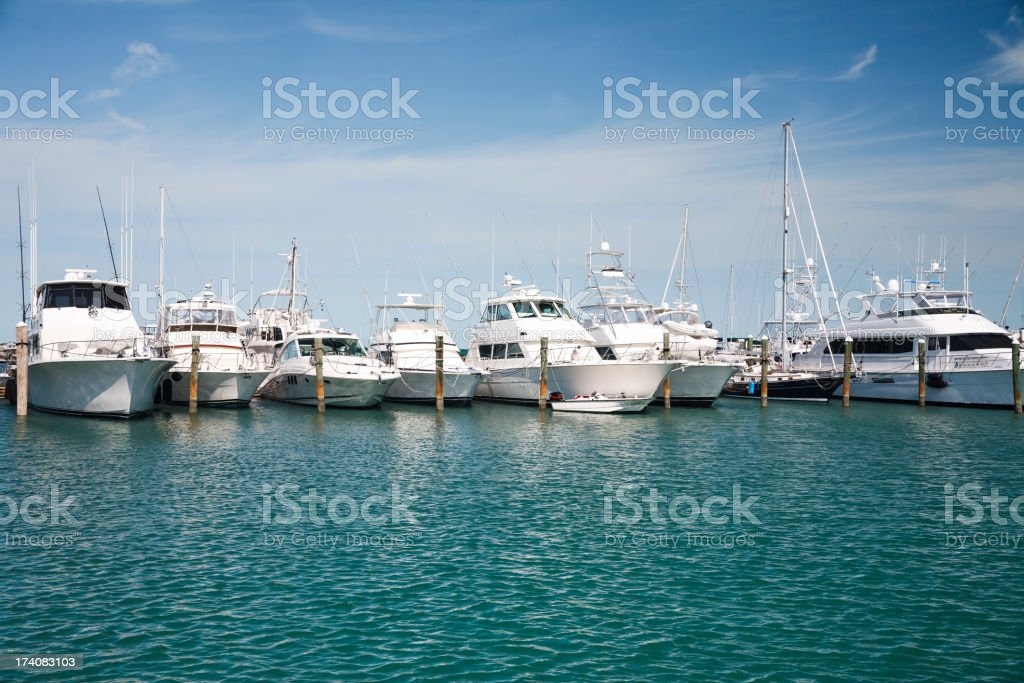 Luxury Yachts stock photo