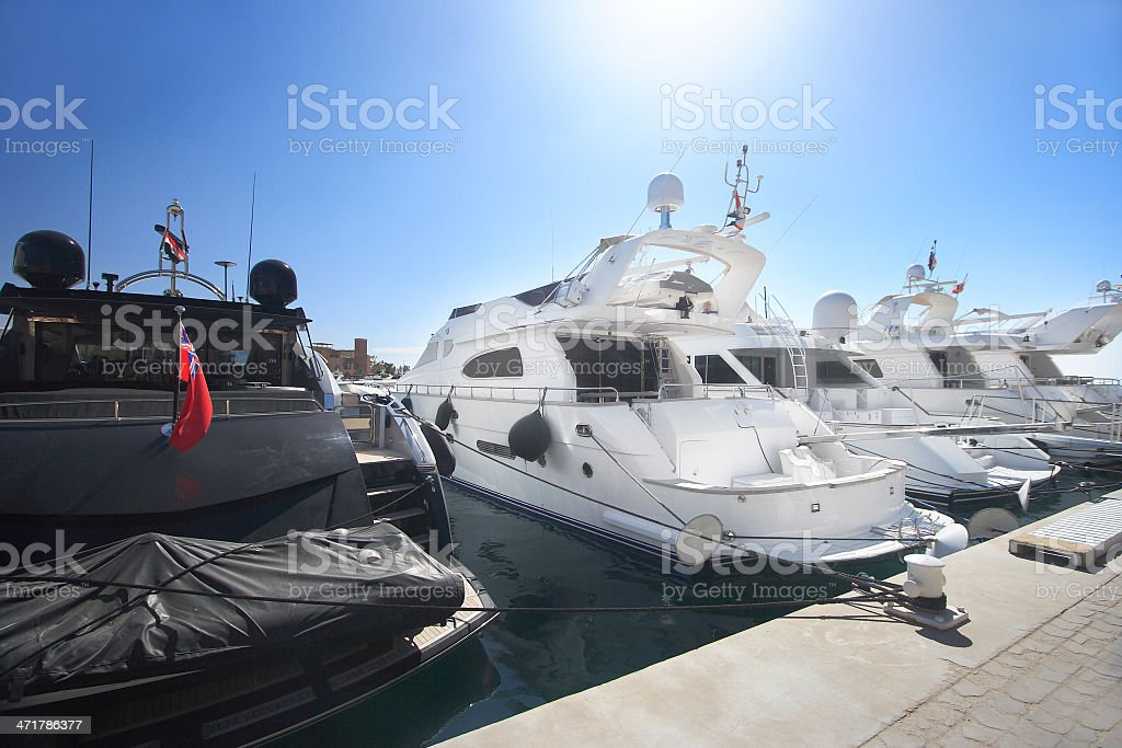 Luxury yachts royalty-free stock photo