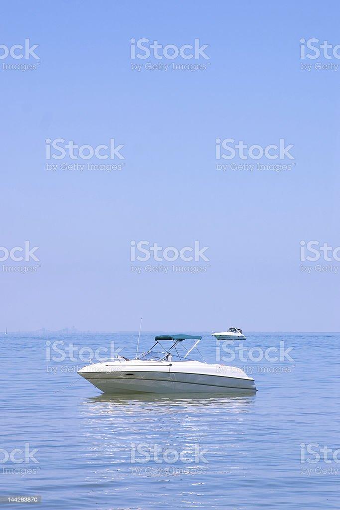 Luxury Yatch at Sea stock photo