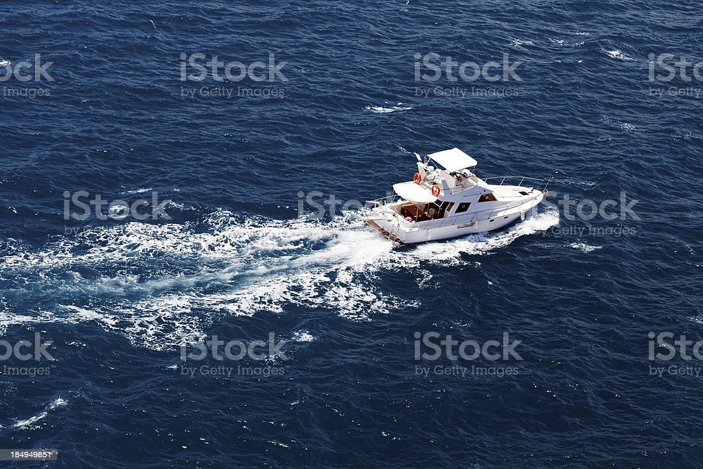 Luxury Yatch stock photo