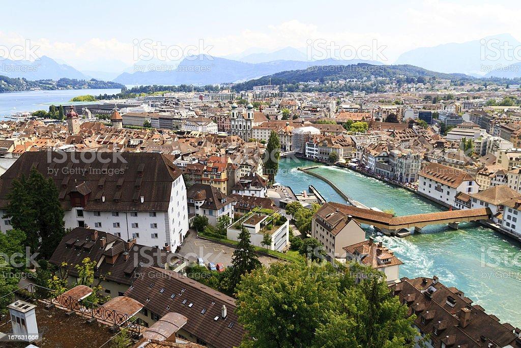 Luzern City View stock photo