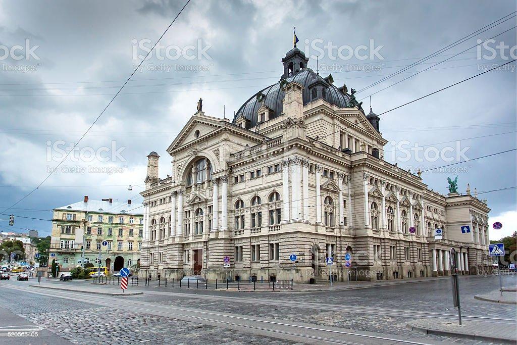 Lviv Opera and Ballet Theater, Ukraine stock photo