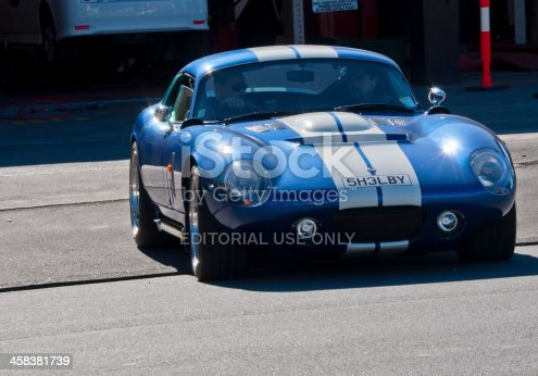 Christchurch,New Zealand - September 12,2013: A Lvvta Shelby Daytona Cobra from 2011  in the  street of central Christchurch,New Zealand.