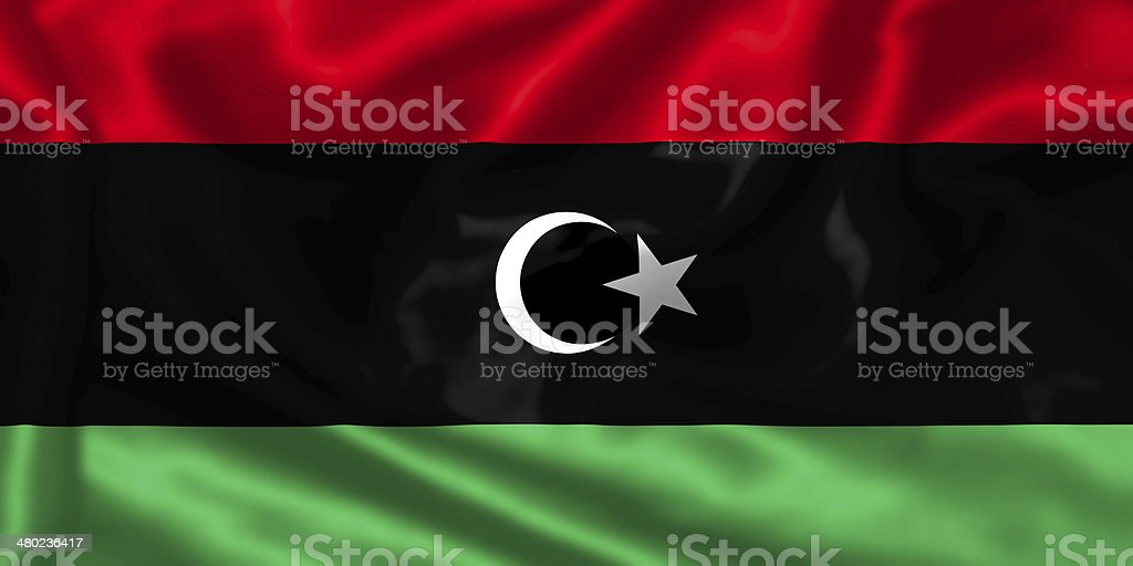 Lybia flag. stock photo
