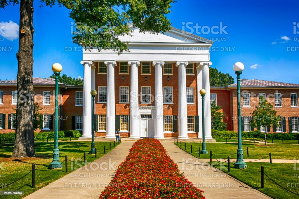 Lyceum Building of 'Ole Miss' University of Mississippi, Oxford, MS, USA stock photo