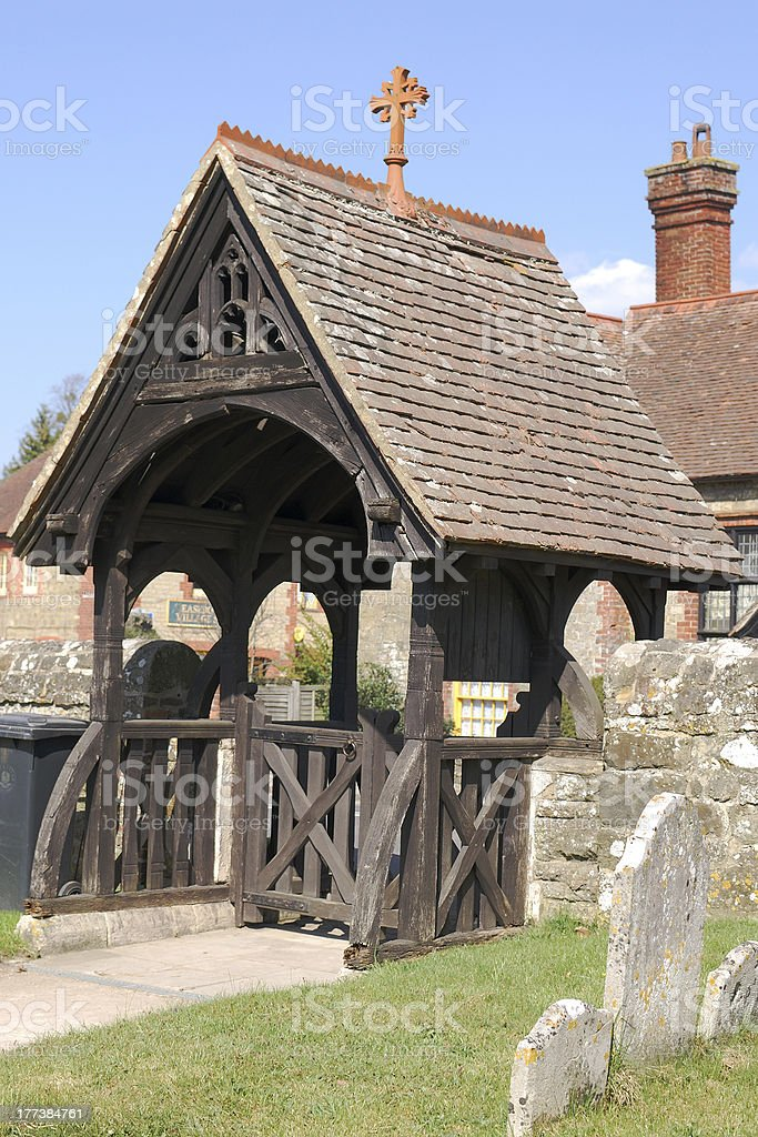 Lych Gate at Easebourne near Midhurst. Sussex royalty-free stock photo