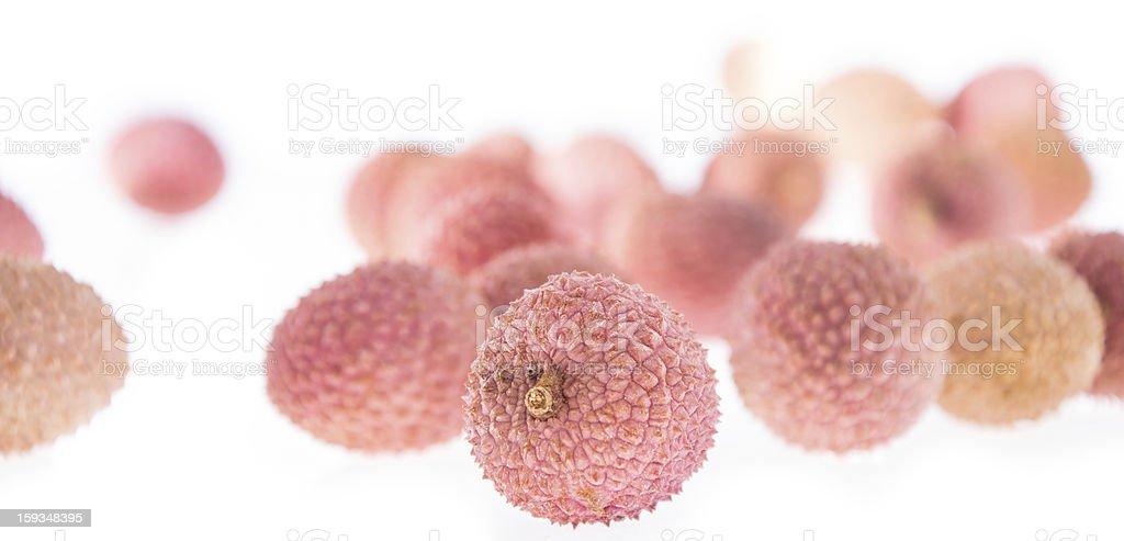 Lychee fruits isolated on white royalty-free stock photo