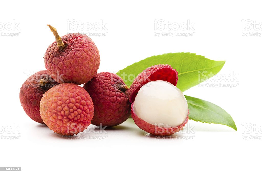 Lychee fruits stock photo