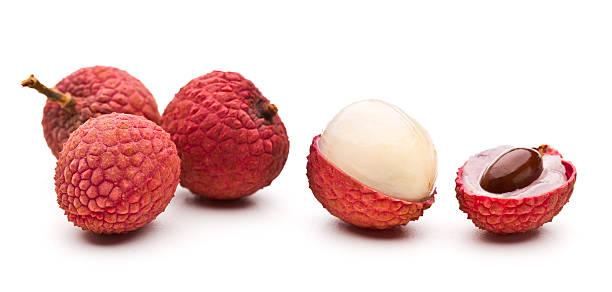 Lychee fruits stock photo