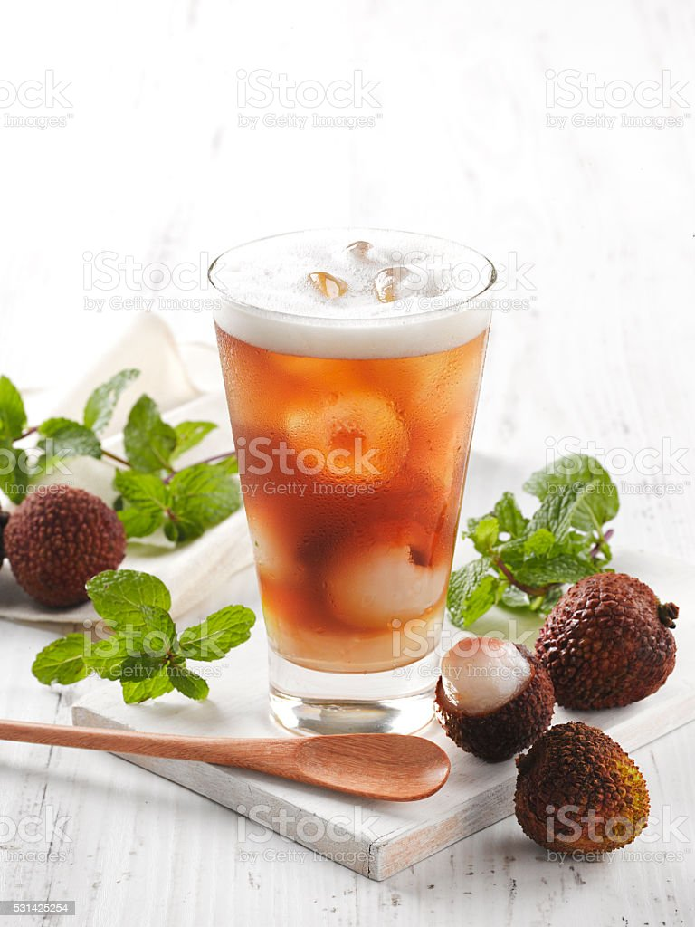 Lychee Ice Tea stock photo