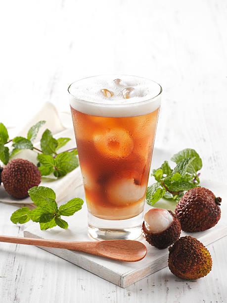 Lychee Ice Tea stock photo