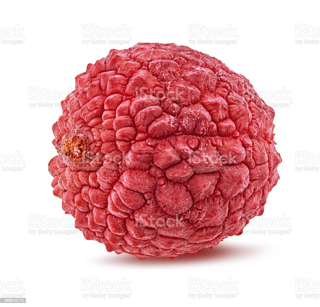 lychee isolated on white stock photo