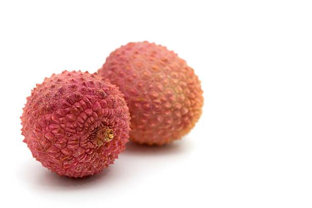 lychees stock photo