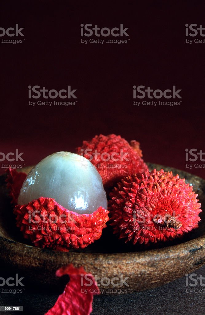 Lychees royalty-free stock photo