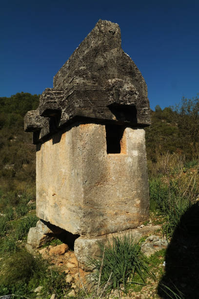 Lycian Sarcophagus Lycian History 4th century bc stock pictures, royalty-free photos & images