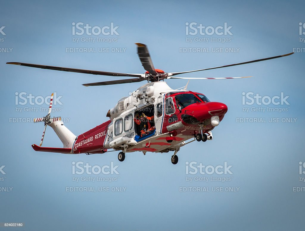 Lydd Civilian Search and Rescue Helicopter stock photo