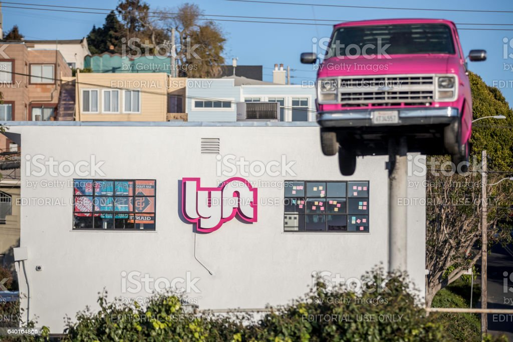 Lyft Driver Hub Building In San Francisco Stock Photo