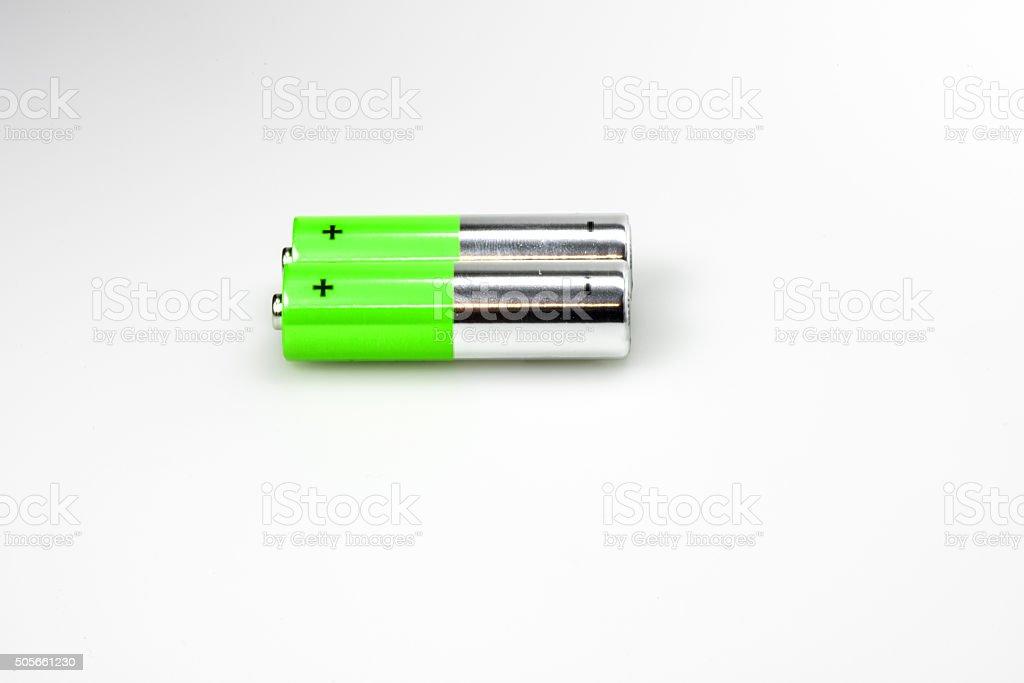 Lying AA Batteries stock photo