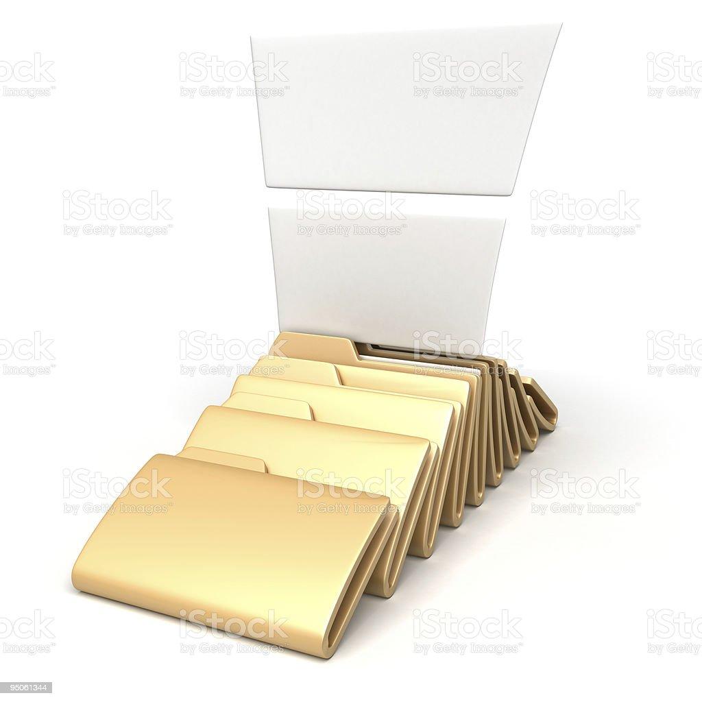 lying folders royalty-free stock photo