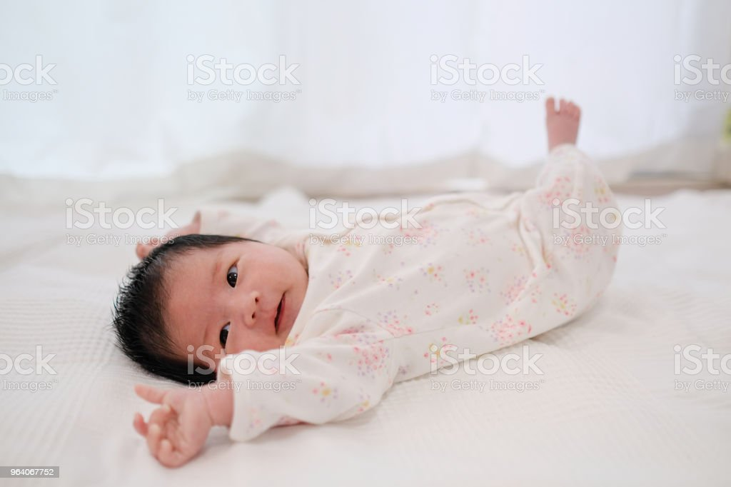 lying newborn baby - Royalty-free 0-1 Months Stock Photo