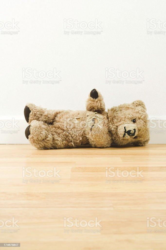Lying teddy bear royalty-free stock photo