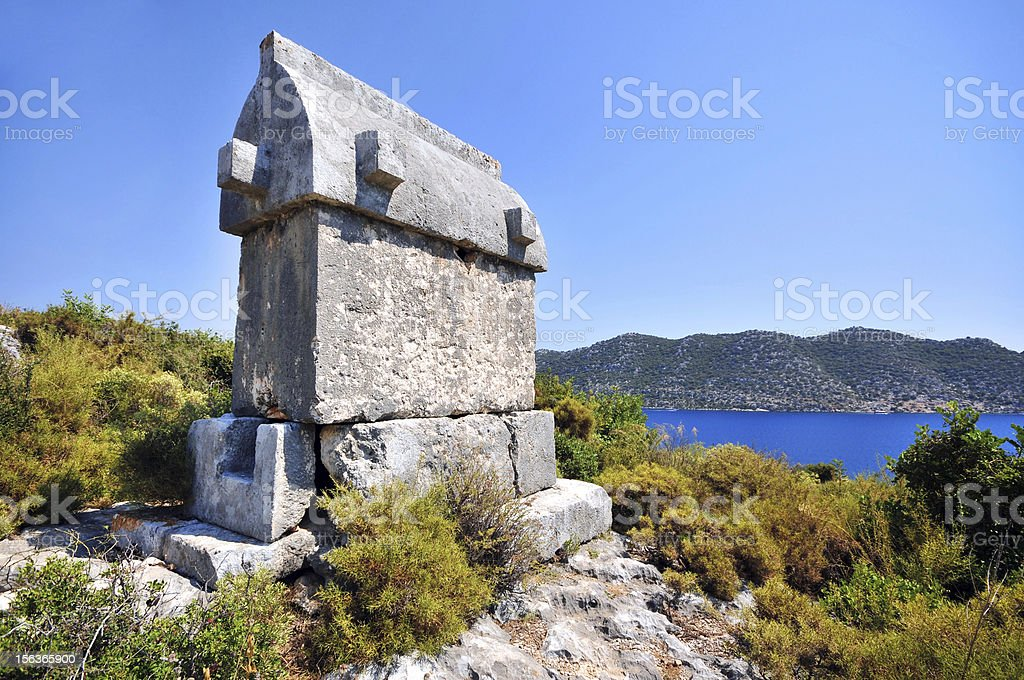 Lykian Tomb royalty-free stock photo