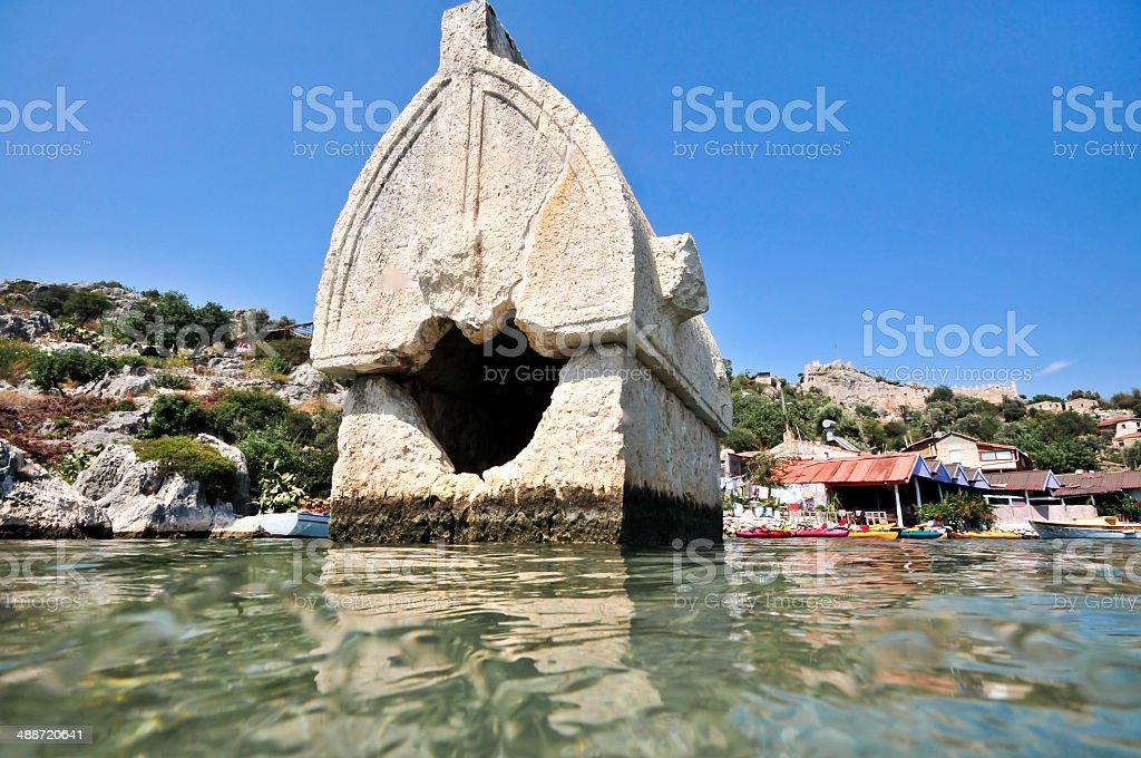 Lykian tombs stok fotoğrafı