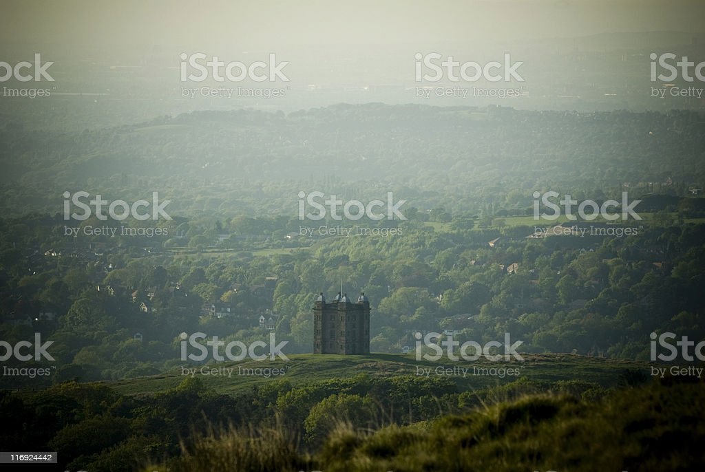 Lyme Cage from above stock photo