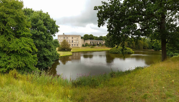 Lyme Hall, a historic English stately home inside Lyme Park in Cheshire, England. It is a popular tourist attraction stock photo