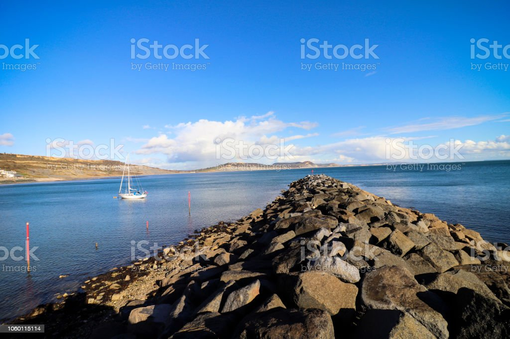 Lyme Regis Beach, Devon stock photo