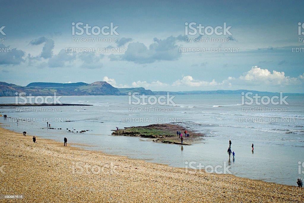 Lyme Regis beach stock photo
