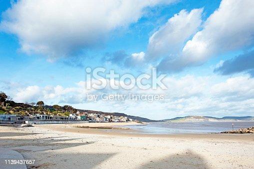 istock Lyme Regis beachfront, Lyme Bay, Dorset, England, UK 1139437657