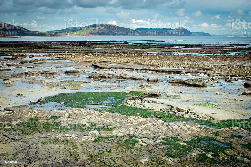 Lyme Regis rocks stock photo