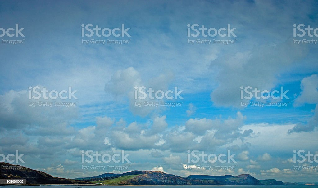 Lyme Regis Sky stock photo