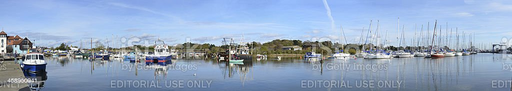 Lymington Harbour stock photo